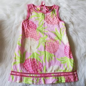 Lilly Pulitzer Pink Green Pineapple Print Dress